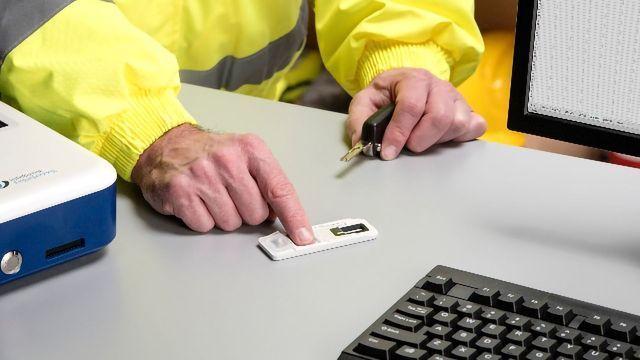 Testing for SARS-CoV-2 Using Fingerprint Sweat