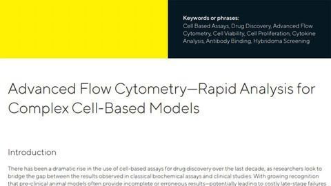 Advanced Flow Cytometry – Rapid Analysis for Complex Cell-based Models