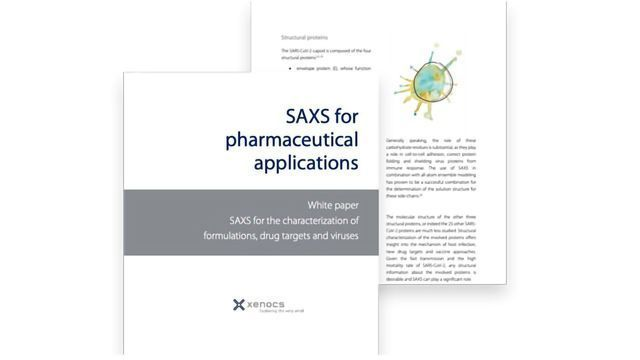 Characterizing Formulations, Drug Targets and Viruses With SAXS and WAXS