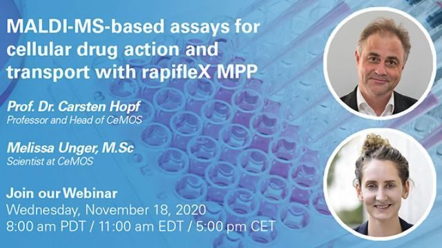 MALDI-MS-based assays for cellular drug action and transport with rapifleX MPP