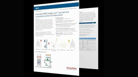 Automated PBMC Isolation and T Cell Wash and Concentration