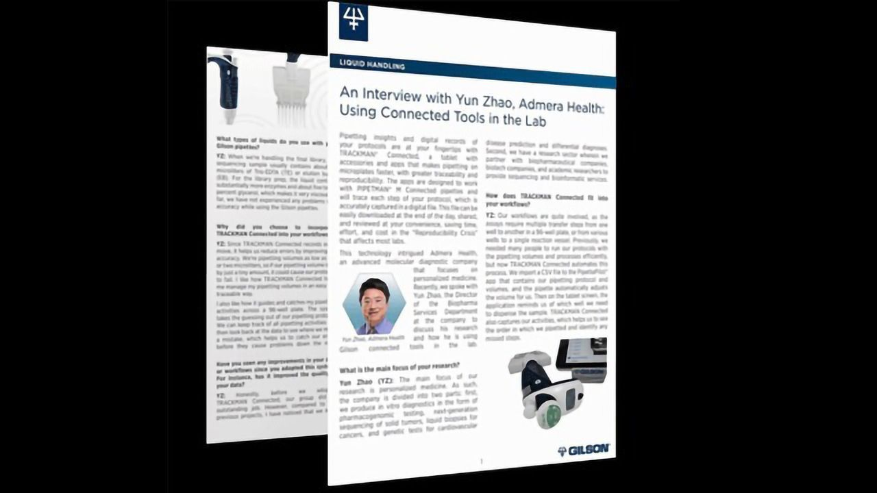 An Interview with Yun Zhao, Admera Health: Using Connected Tools in the Lab