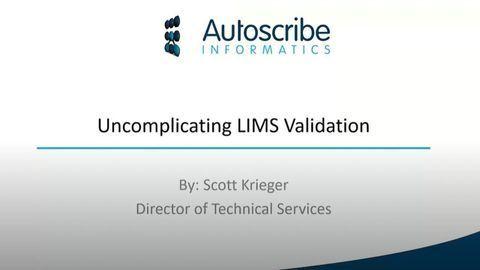 Explaining LIMS Validation