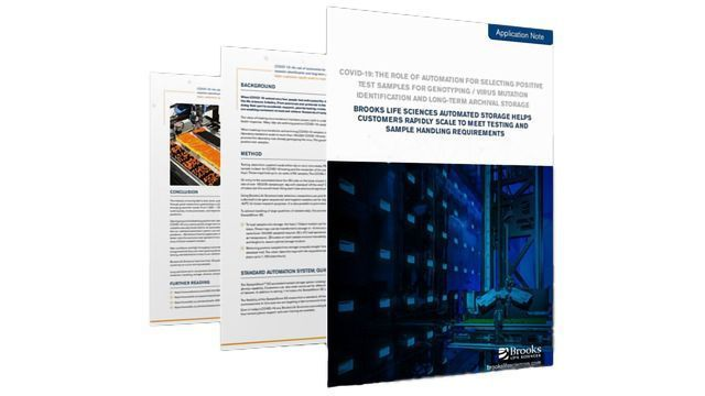 COVID-19: Automated Solutions To Meet Testing and Sample Handling Requirements