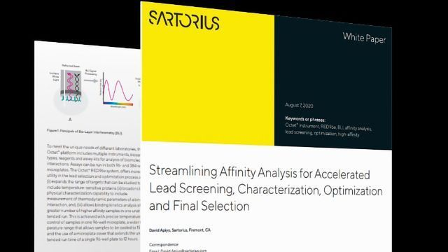 Affinity Analysis for Accelerated Screening and Characterization of Lead Molecules