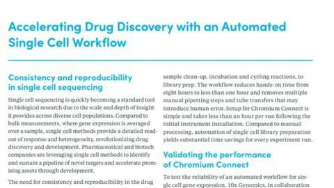 Accelerating Drug Discovery With an Automated Single-Cell Workflow