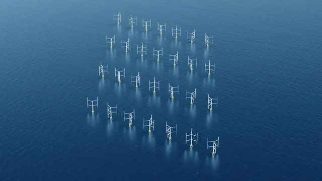More Efficient Wind Power Generation Offered by Vertical Blades