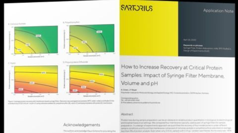 Improve Recovery of Critical Protein Samples