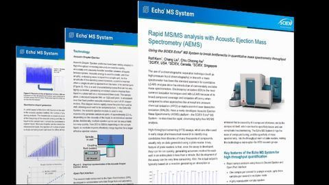 Rapid MS/MS Analysis With Acoustic Ejection Mass Spectrometry