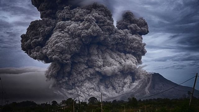 Loss of Ozone Triggered by Ancient Volcanic Eruption