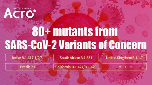 80+ Mutants From SARS-CoV-2 Variants of Concern