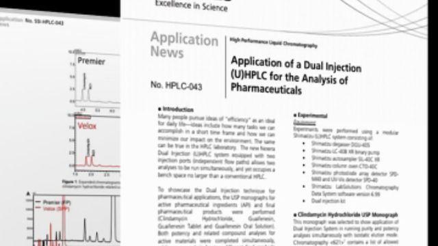 使用双注射(U)HPLC的药物分析