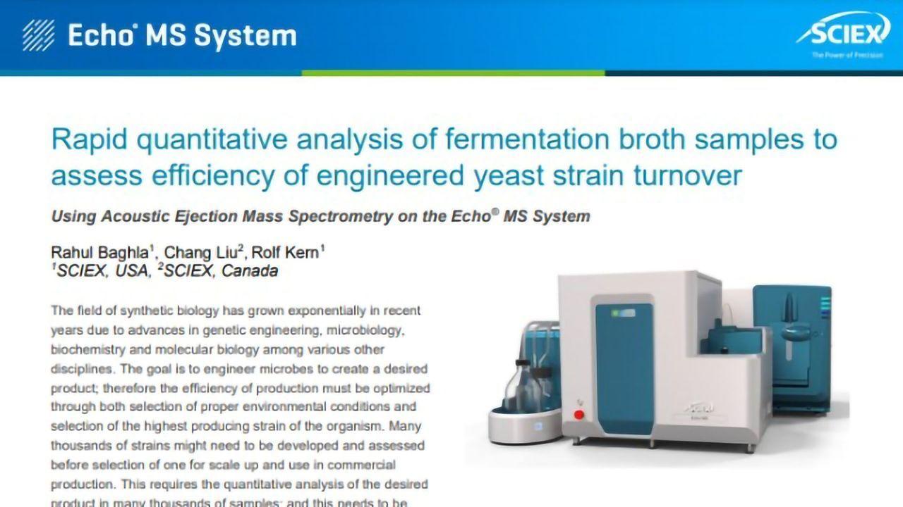 Rapid Quantitative Analysis of Fermentation Broth Samples